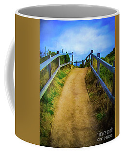 Coffee Mug featuring the photograph Coast Path by Perry Webster