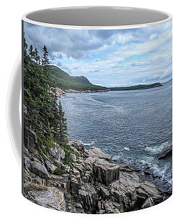 Coastal Landscape From Ocean Path Trail, Acadia National Park Coffee Mug