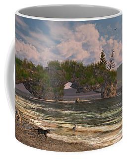 Coffee Mug featuring the digital art Coastal Paradise by Mary Almond