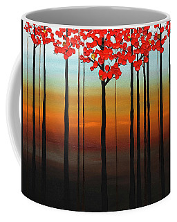 Coffee Mug featuring the painting Coastal Radiance by Carmen Guedez