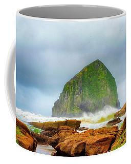 Coastal Storm At Haystack Coffee Mug