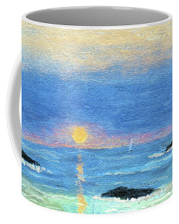 Coastal Sun And Crashing Waves Coffee Mug by R Kyllo