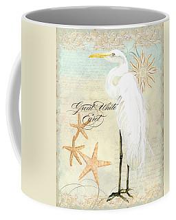 Coastal Waterways - Great White Egret 3 Coffee Mug
