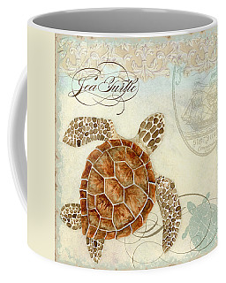 Coastal Waterways - Green Sea Turtle 2 Coffee Mug