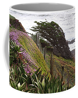 Coastal Windblown Trees Coffee Mug