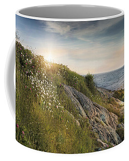 Coffee Mug featuring the photograph Coastline Newport by Robin-Lee Vieira