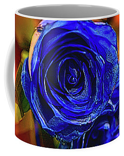 Coffee Mug featuring the photograph Cobalt Blue by Diana Mary Sharpton
