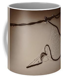 Coffee Mug featuring the photograph Cobwebs On My Heart by Mary Hone