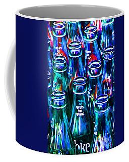 Coca-cola Coke Bottles - Return For Refund - Painterly - Blue Coffee Mug