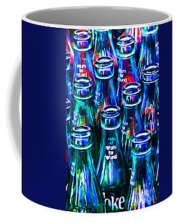 Coca-cola Coke Bottles - Return For Refund - Painterly - Blue Coffee Mug