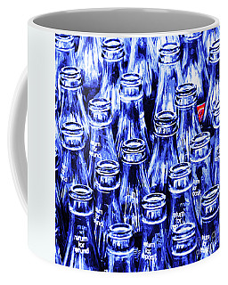Coca-cola Coke Bottles - Return For Refund - Square - Painterly - Blue Coffee Mug