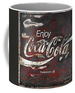 Coca Cola Grunge Sign Coffee Mug