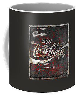 Coca Cola Grunge Sign Coffee Mug by John Stephens