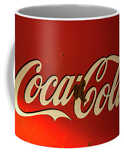 Coffee Mug featuring the photograph Coca-cola Sign  by Toni Hopper