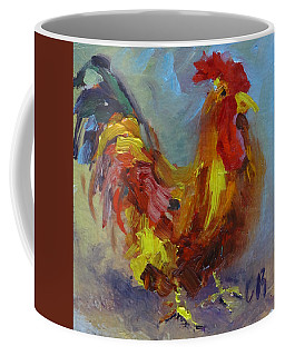 Coffee Mug featuring the painting Cock Of The Walk by Carol Berning