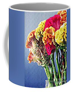 Coffee Mug featuring the photograph Cockscomb Bouquet 2 by Sarah Loft