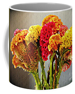 Coffee Mug featuring the photograph Cockscomb Bouquet 3 by Sarah Loft
