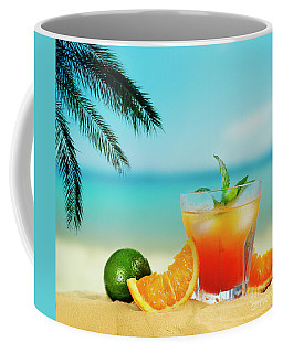 Cocktail On The Beach Coffee Mug