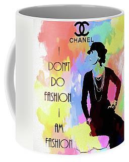 Coco Chanel Colorful Fashion Quote Coffee Mug