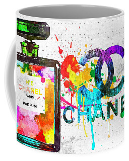 Coco Chanel No. 5 Grunge Coffee Mug