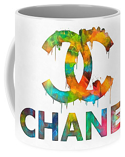 Coco Chanel Paint Splatter Color Coffee Mug