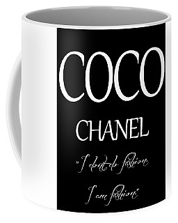 Coco Chanel Quote Coffee Mug by Dan Sproul