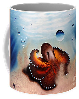 Coconut Octopus Coffee Mug by Dianna Lewis