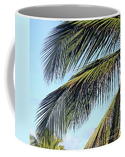 Swaying Palm Branches Coffee Mug by The Art of Alice Terrill
