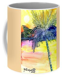 Coconut Palm Tree 3 Coffee Mug by Marionette Taboniar