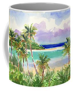 Coconut Palms And Lagoon, Aitutaki Coffee Mug