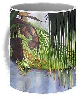 Coconut Tree Coffee Mug by Teresa Beyer