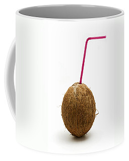Coconut With A Straw Coffee Mug