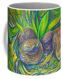 Coffee Mug featuring the painting Coconuts by Anna  Duyunova
