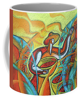 Coffee Mug featuring the painting Coffee Bean Harvest by Leon Zernitsky