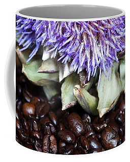 Coffee Beans And Blue Artichoke Coffee Mug