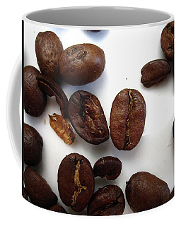 Coffee Mug featuring the photograph Coffee Beans by Mary Ellen Frazee