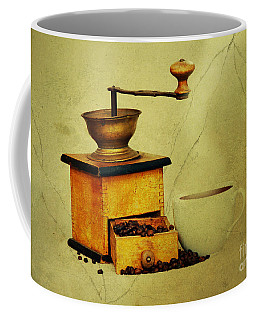 Coffee Mill And Cup Of Hot Black Coffee Coffee Mug