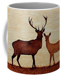 Coffee Painting Deer Love Coffee Mug