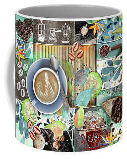 Coffee Shop Collage Coffee Mug