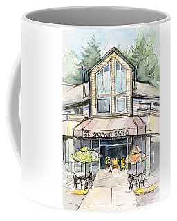 Coffee Shop Watercolor Sketch Coffee Mug