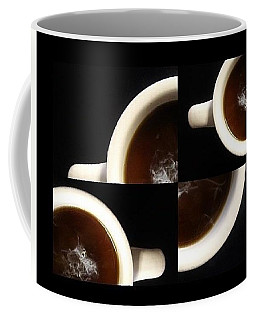 Coffee Mug featuring the mixed media Coffee With Cream by Mary Ellen Frazee