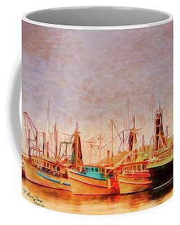 Coffee Mug featuring the photograph Coffs Harbour Fishing Trawlers by Wallaroo Images