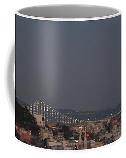 Coit Tower And Bay Bridge Coffee Mug