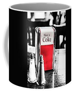 Coffee Mug featuring the photograph Coke Napkins by Karol Livote