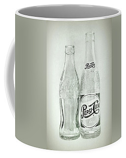 Coke Or Pepsi Black And White Coffee Mug by Terry DeLuco