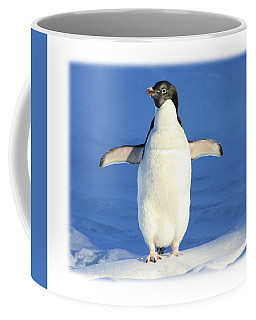 Cold Feet - Penquin In The Snow Coffee Mug