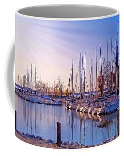 Coffee Mug featuring the photograph Cold Kentucky Lake Marina by Bonnie Willis
