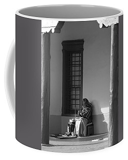 Coffee Mug featuring the photograph Cold Native American Woman by Rob Hans