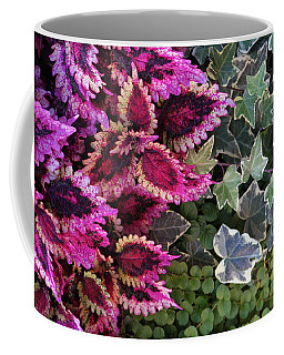 Coffee Mug featuring the mixed media Coleus And Ivy- Photo By Linda Woods by Linda Woods