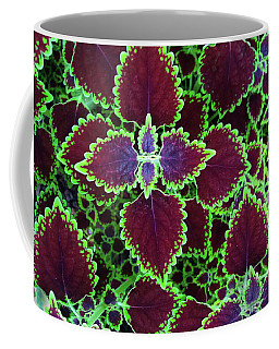Coleus Leaves Coffee Mug by Nareeta Martin